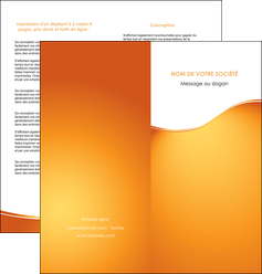 personnaliser maquette depliant 2 volets  4 pages  orange fond orange fluide MLGI65457