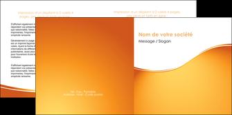 maquette en ligne a personnaliser depliant 2 volets  4 pages  orange fond orange fluide MLGI65459