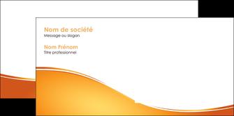 personnaliser modele de enveloppe orange fond orange fluide MLGI65467