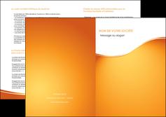 maquette en ligne a personnaliser depliant 2 volets  4 pages  orange fond orange fluide MLGI65469
