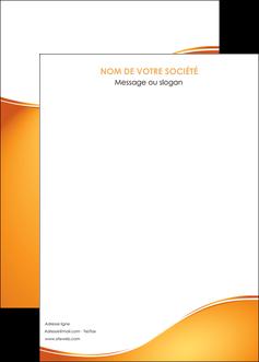 imprimerie affiche orange fond orange fluide MLGI65473