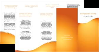 modele depliant 4 volets  8 pages  orange fond orange fluide MLGI65475