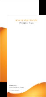 personnaliser modele de flyers orange fond orange fluide MLGI65479