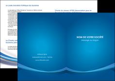 personnaliser maquette depliant 2 volets  4 pages  bleu fond bleu pastel MIF66673