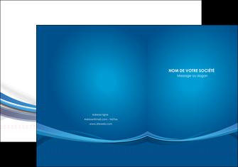 cree pochette a rabat bleu fond bleu pastel MIF66679