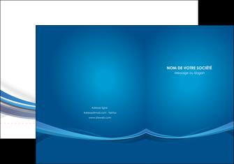 personnaliser modele de pochette a rabat bleu fond bleu pastel MIF66681