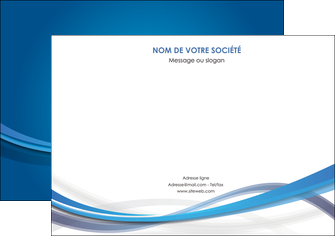 imprimerie affiche bleu fond bleu pastel MIF66685