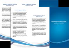 creation graphique en ligne depliant 3 volets  6 pages  bleu fond bleu pastel MIF66693