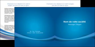 modele en ligne depliant 2 volets  4 pages  bleu fond bleu pastel MIF66697