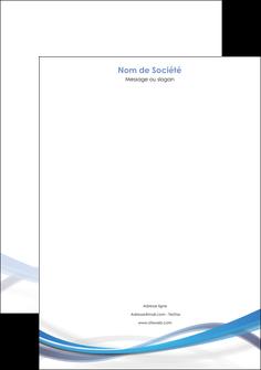 imprimerie tete de lettre bleu fond bleu pastel MIF66699