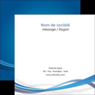 imprimer flyers bleu fond bleu pastel MIF66701