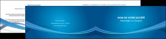 creation graphique en ligne depliant 2 volets  4 pages  bleu fond bleu pastel MIF66703