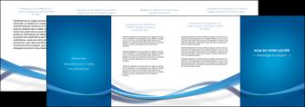 creer modele en ligne depliant 4 volets  8 pages  bleu fond bleu pastel MIF66709
