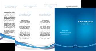 creation graphique en ligne depliant 4 volets  8 pages  bleu fond bleu pastel MIF66713
