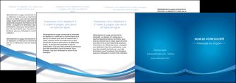 realiser depliant 4 volets  8 pages  bleu fond bleu pastel MIF66715