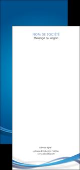 personnaliser maquette flyers bleu fond bleu pastel MIF66717