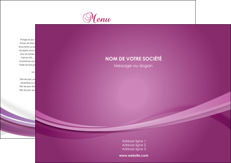 impression set de table violet violette abstrait MLGI66939