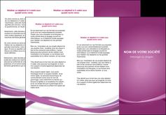 realiser depliant 3 volets  6 pages  violet violette abstrait MIS66965