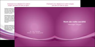 imprimer depliant 2 volets  4 pages  violet violette abstrait MLGI66969