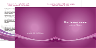 imprimer depliant 2 volets  4 pages  violet violette abstrait MIS66969