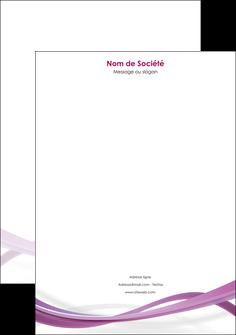 impression tete de lettre violet violette abstrait MLGI66971