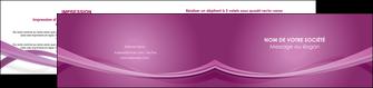 impression depliant 2 volets  4 pages  violet violette abstrait MIS66975