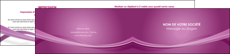impression depliant 2 volets  4 pages  violet violette abstrait MIF66975
