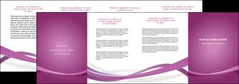 faire depliant 4 volets  8 pages  violet violette abstrait MIS66981