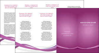 personnaliser modele de depliant 4 volets  8 pages  violet violette abstrait MIS66985