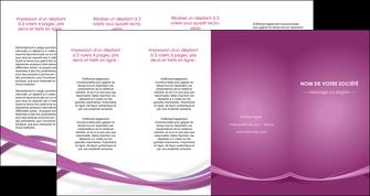 personnaliser modele de depliant 4 volets  8 pages  violet violette abstrait MLGI66985