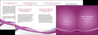 maquette en ligne a personnaliser depliant 4 volets  8 pages  violet violette abstrait MLGI66987