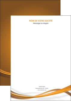 maquette en ligne a personnaliser affiche marron marron chocolat couleur MIF67045