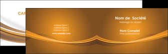 creer modele en ligne carte de visite marron marron chocolat couleur MIF67051