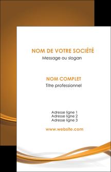 personnaliser maquette carte de visite marron marron chocolat couleur MIF67053