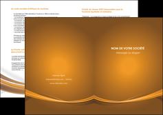 maquette en ligne a personnaliser depliant 2 volets  4 pages  marron marron chocolat couleur MIF67083