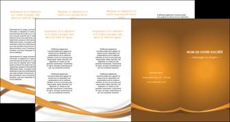 faire modele a imprimer depliant 4 volets  8 pages  marron marron chocolat couleur MIF67089