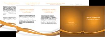 personnaliser maquette depliant 4 volets  8 pages  marron marron chocolat couleur MIF67091