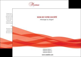 maquette en ligne a personnaliser set de table rouge couleurs chaudes fond  colore MLGI67105
