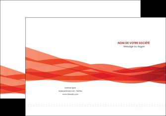 personnaliser maquette pochette a rabat rouge couleurs chaudes fond  colore MLGI67117