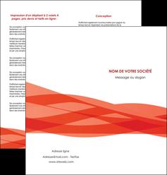 creer modele en ligne depliant 2 volets  4 pages  rouge couleurs chaudes fond  colore MLGI67133
