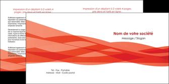 imprimer depliant 2 volets  4 pages  rouge couleurs chaudes fond  colore MLGI67135
