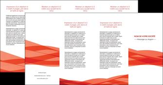 creer modele en ligne depliant 4 volets  8 pages  rouge couleurs chaudes fond  colore MLGI67151