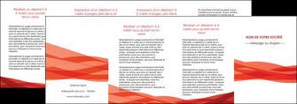 personnaliser modele de depliant 4 volets  8 pages  rouge couleurs chaudes fond  colore MLGI67153