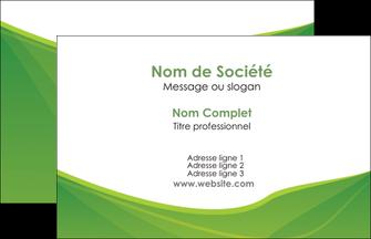Commander cartes visites pelliculage mat Espaces verts papier publicitaire et imprimerie Carte de Visite - Paysage