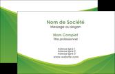 cree carte de visite espaces verts vert fond vert couleur MLGI67155
