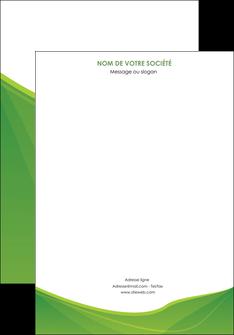 realiser affiche espaces verts vert fond vert couleur MLGI67161