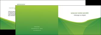 cree depliant 2 volets  4 pages  espaces verts vert fond vert couleur MLGI67171