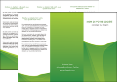 cree depliant 3 volets  6 pages  espaces verts vert fond vert couleur MLGI67181