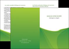 modele en ligne depliant 2 volets  4 pages  espaces verts vert fond vert couleur MLGI67195