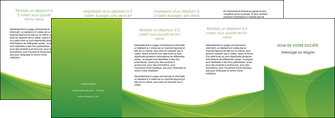 creer modele en ligne depliant 4 volets  8 pages  espaces verts vert fond vert couleur MLGI67205